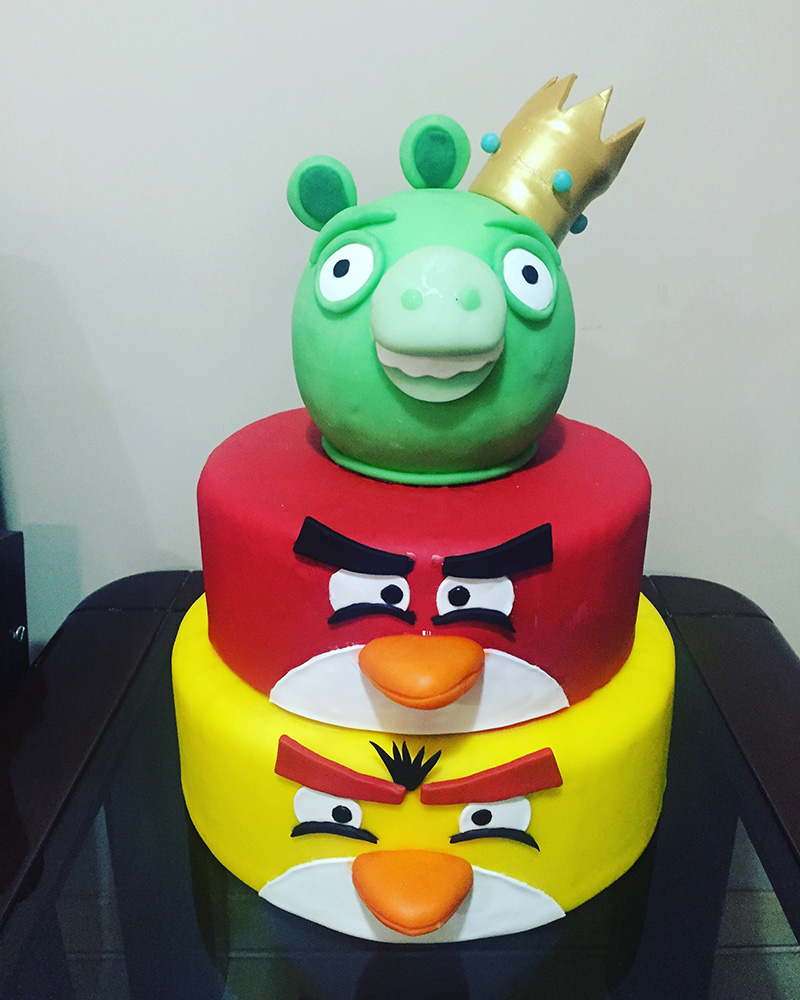 Maquete Angry Birds - Mariart's Festas